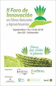 Cartel II Foro de Innovación Fibras Naturales y Agroartesanías
